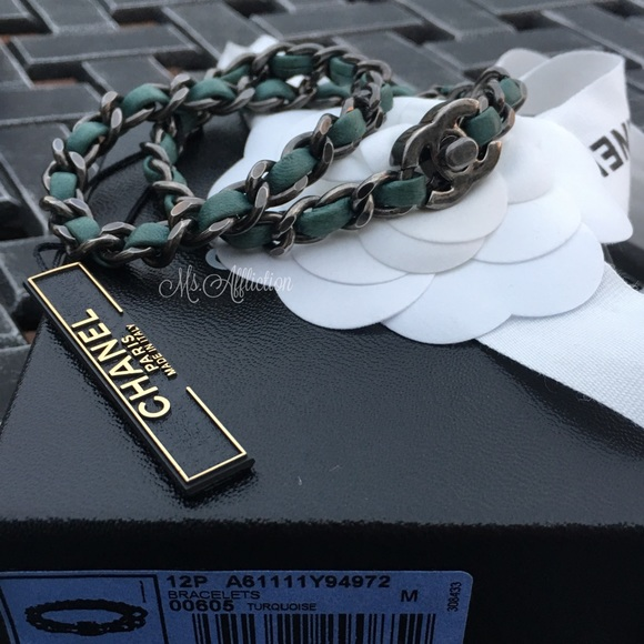 CHANEL Jewelry - CHANEL Authentic CC Turnlock Wrap Bracelet